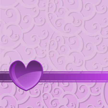 Vectorillustratie van Valentijnsdag achtergrond, versierd met prachtige harten.