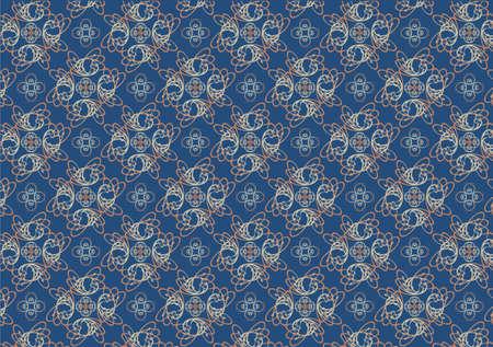 Vector illustraition of blue retro abstract Swirl Pattern background Vector