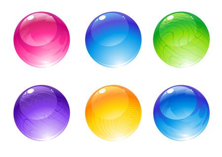 Vector illustration of the beautiful decoration balls set.