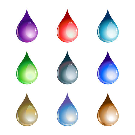 Vector illustration of the beautiful decoration water drops set. Stock Vector - 8871987
