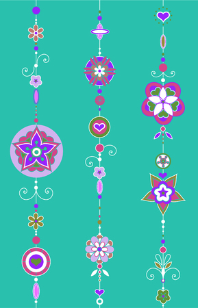 chimes: Vector Illustration of Decorative Wind Chimes with authentic ornament design