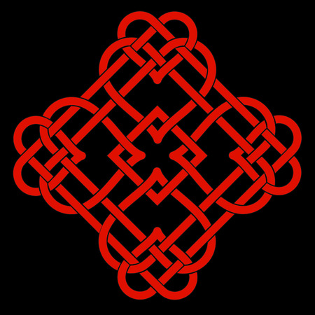 Vector Illustration of Celtic Knot Motif Vector