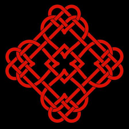 Vector Illustration of Celtic Knot Motif Vetores