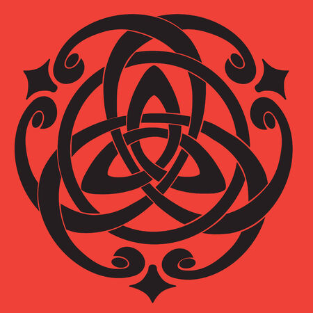 keltische muster: Vector Illustration of Celtic Knot Motiv