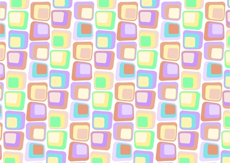 illustraition: illustraition of  Retro styled Abstract  background made of  Candy Squares  Stock Photo