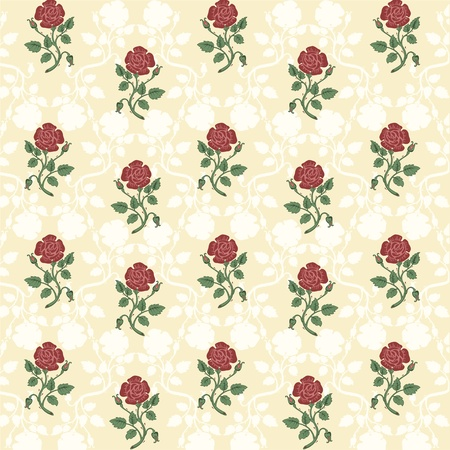 Vector illustration of beautiful retro floral background Vector