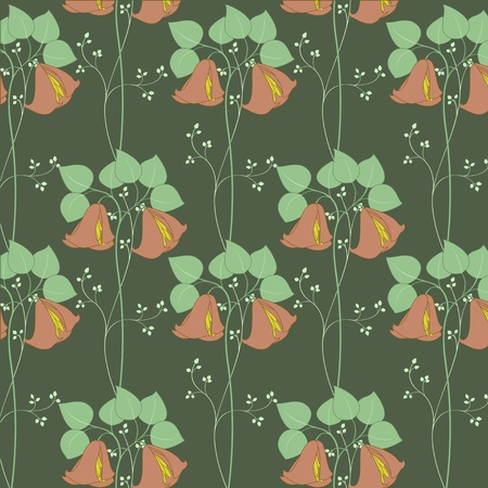 effortless: Vector illustration of beautiful retro floral background