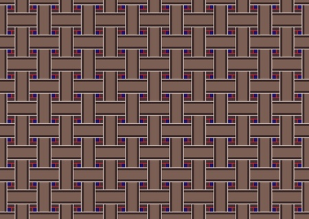 grating: illustration of brown seamless geometric grating retro abstract Background.