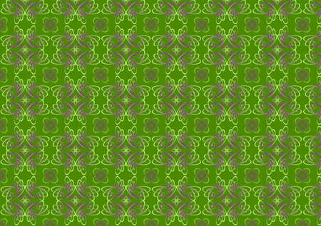 illustraition: illustraition of green  retro abstract Swirl Pattern background