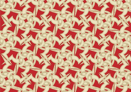 illustration of celtic ornament abstract pattern on the red background illustration