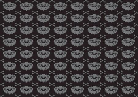illustraition: illustraition of skulls abstract background. Stock Photo