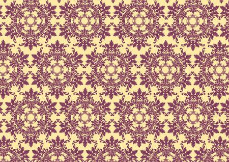 illustraition: illustraition of   retro abstract floral Pattern background