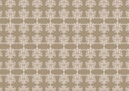 illustraition: illustraition of grey retro abstract floral Pattern background