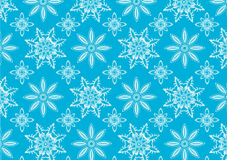 illustration of  Blue snowflake pattern . Winter season  design element that can be used as background  Stock Illustration - 9835793