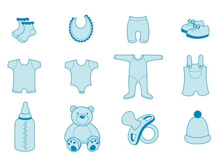 set of baby Clothing and Accessories Icons