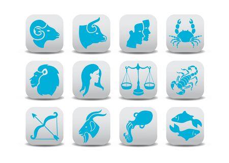 sagitario: iconos Zodiaco  Foto de archivo