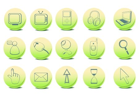 different  Website and Internet icons  photo