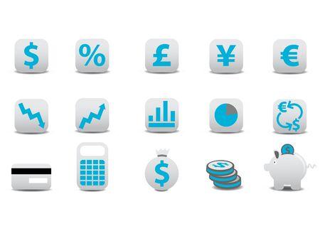 actividad econ�mica: iconos financieros. Puede utilizarlo para su sitio Web, aplicaciones o presentaci�n