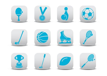 icon set or design elements relating to sports photo