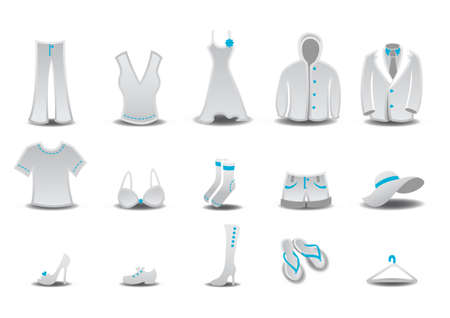 set of fashion  Clothing and Accessories Icons photo