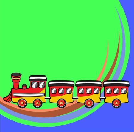 Transport Cartoon. Little funny train photo