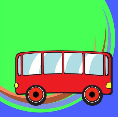 Transport Cartoon . Little funny bus. photo