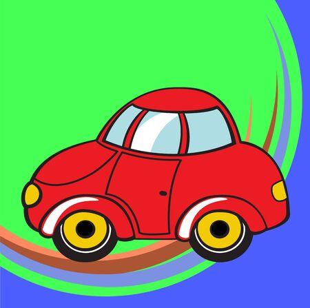 mode of transport: Transport Cartoon. Little funky car.