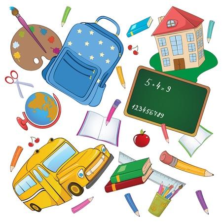 illustratie van koele Terug naar school achtergrond
