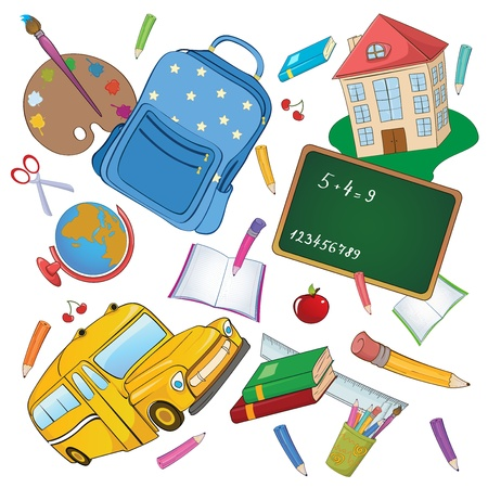 illustration of cool Back to school background   Vector