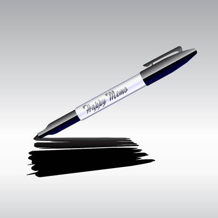 Illustrazione del disegno marcatore sul foglio di carta. Archivio Fotografico - 11412418