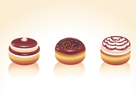 illustration of different kinds donut icons. Good for funny greeting cards illustration