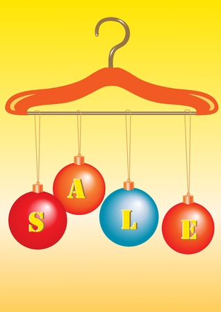 Illustration of  Colorful christmas balls. You can use it for christmas shopping concept
