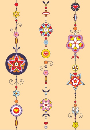 wind chimes: Illustration of Decorative Wind Chimes with authentic ornament design Stock Photo