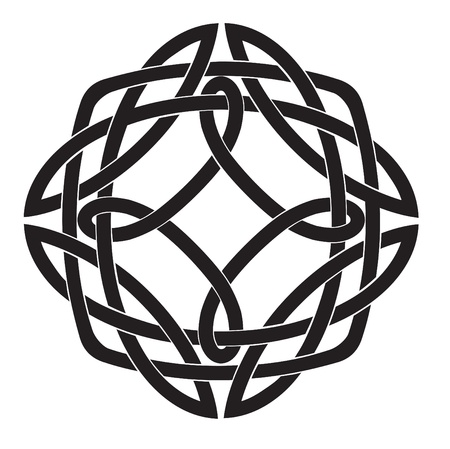 celt: Illustration of Celtic Knot Motif Stock Photo
