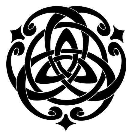 Illustration of Celtic Knot Motif Foto de archivo
