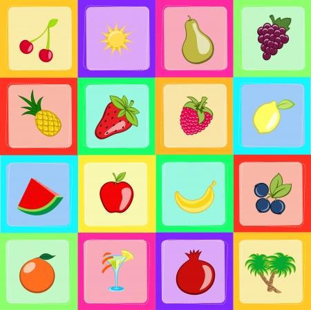 Illustration of Seamless sweet and juicily Fruit Background illustration