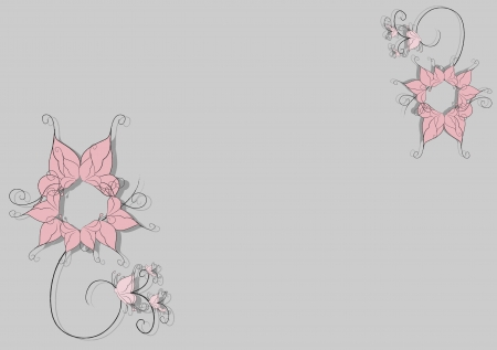 illustration of style floral design background illustration