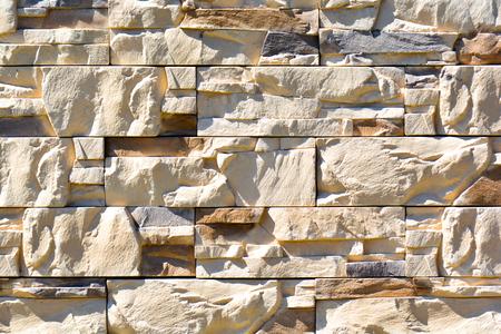 Modern stone brick wall background. Decorative Stone texture