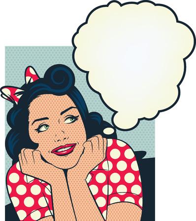 ama de casa: chica recordando satisfechos