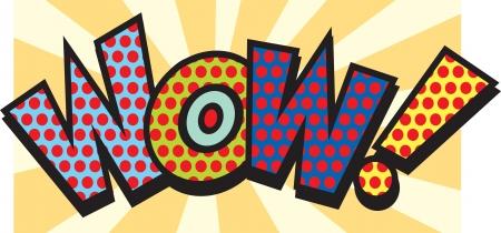 wow: Wow en el arte pop Vectores