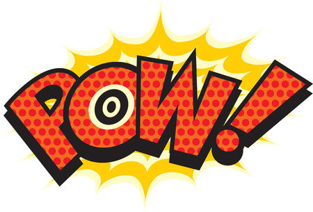 Pow in pop art Vector