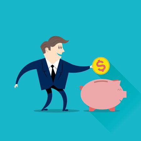 businessperson: Businessman saving