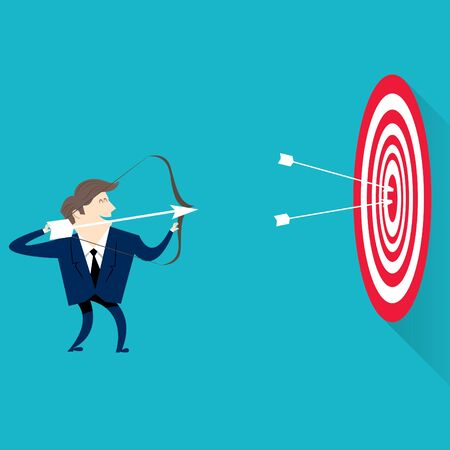 successful businessman with objectives Illustration