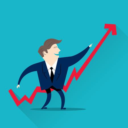 ビジネスマンが財政を改善