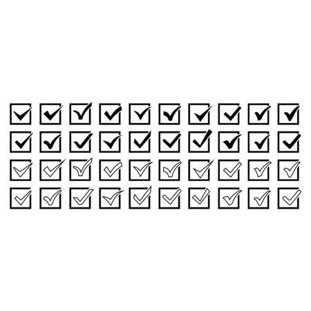 chek mark icon set vector design symbol
