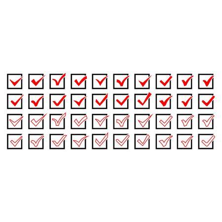 check mark icon set vector design symbol