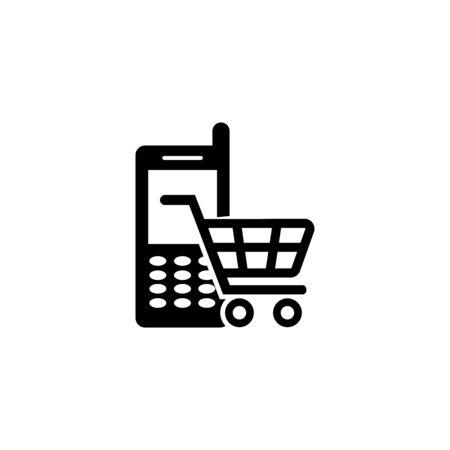 online shopping icon vector design symbol 向量圖像