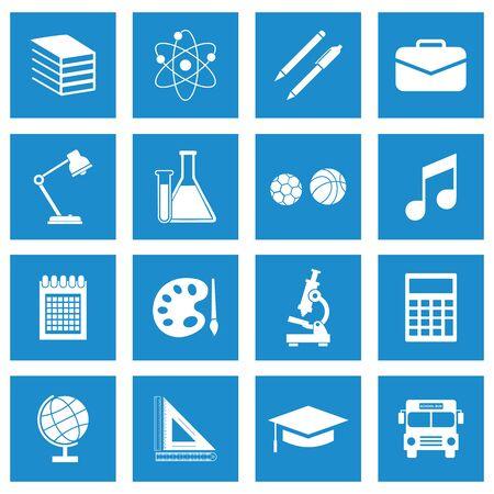 symbole de conception de vecteur d'icône de matériel scolaire Vecteurs