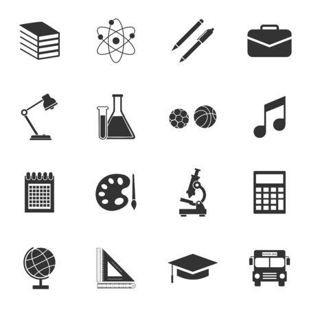 school equipment icon vector design symbol