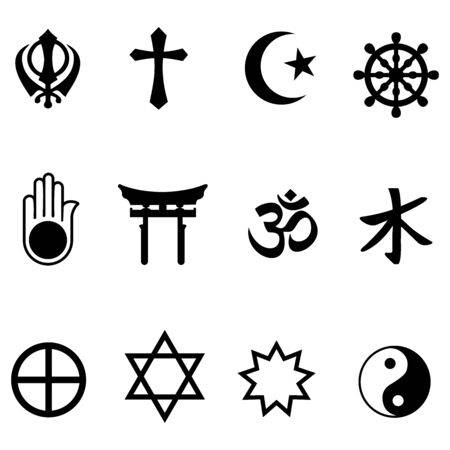 symbol of religion in the world icon vector design Vector Illustration